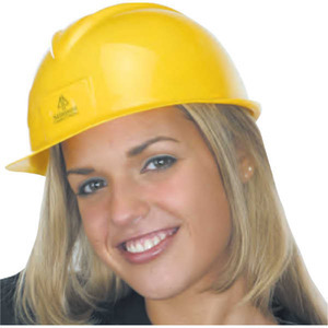 Construction Hats - Lightweight Polyethylene Slotted Shell Hard Hats