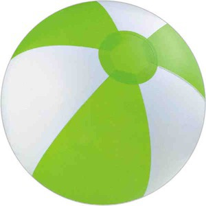 Custom Printed Lime Green and White Alternating Color Beach Balls!
