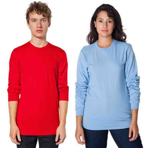 Custom Imprinted American Apparel Long Sleeve T-Shirts For Men