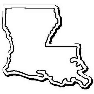 Custom Imprinted Louisiana Shaped Magnets