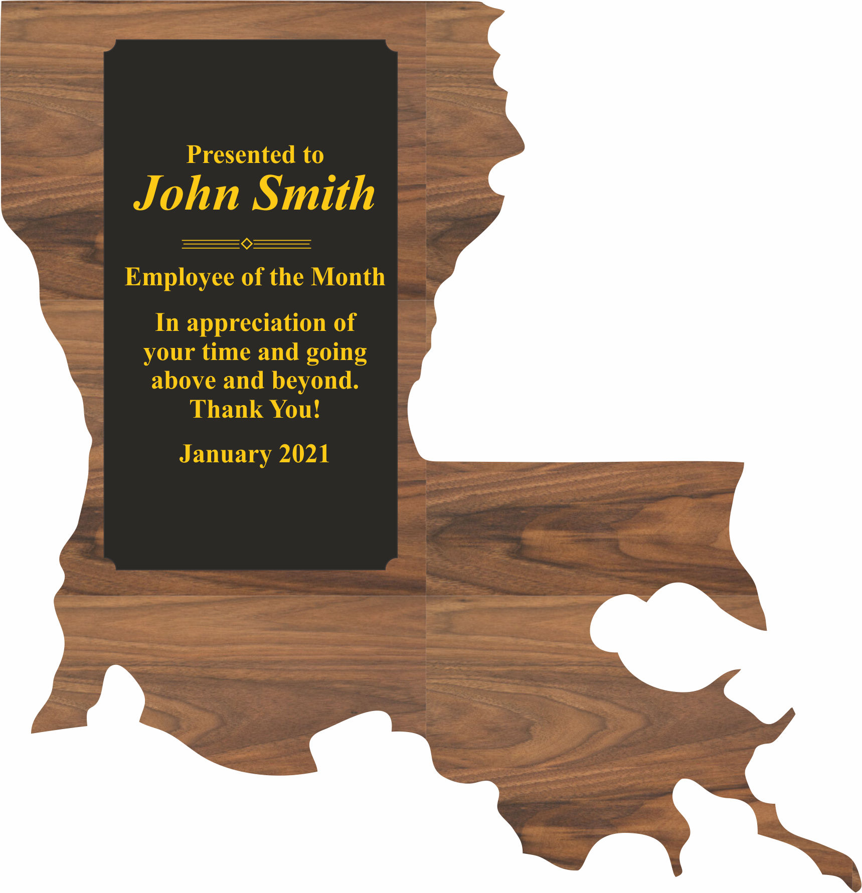 Louisiana State Shaped Promotional Items -