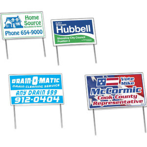 Yard Signs - Low Cost Budget Yard Signs