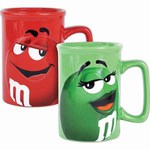 Custom Imprinted M&M Chocolate Candy Character Mugs