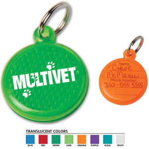Custom Decorated Made in the USA Paw Reflector ID Tags