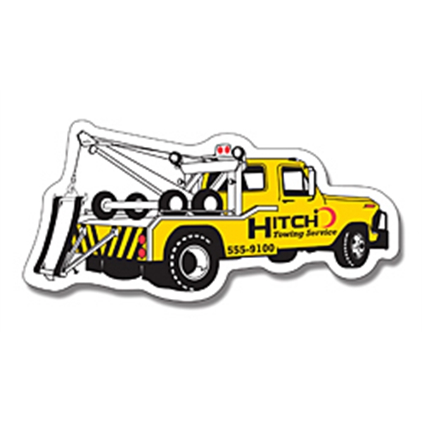 Custom Printed Canadian Manufactured Tow Truck Stock Shaped Magnets!