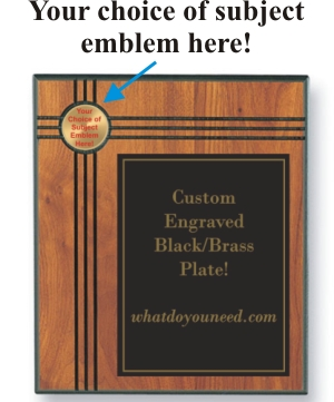 Baseball Batter Emblems and Seals - Emblem Plaques