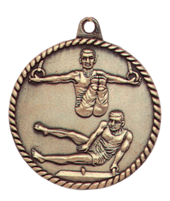 Customized Male Gymnastics High Relief Medals!
