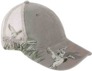 Custom Imprinted Baseball Cap Stock Design Mesh Back