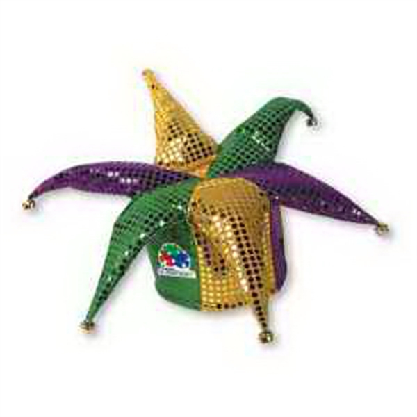 Custom Imprinted Mardi Gras Jester Hat!