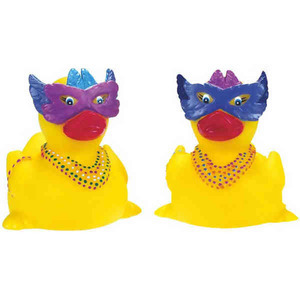 Mardi Gras Promotional Items - Mardi Gras Rubber Ducks