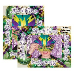 Custom Imprinted Mardigras Paper Picture Frames!