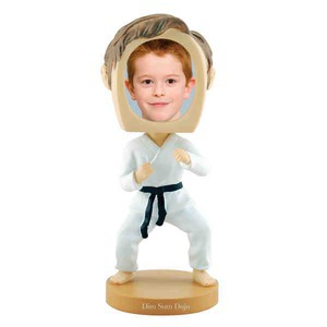 Custom Printed Martial Arts Bobble Head Picture Frames