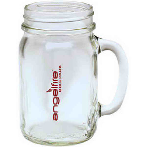 Custom Imprinted Mason Jar Mugs with Lids
