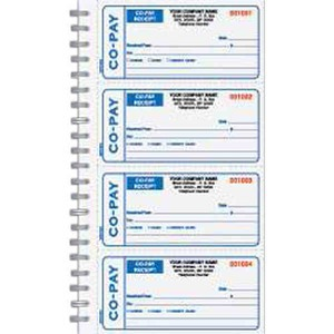 medical co pay receipt books custom printed promotional items