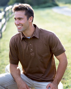 Mens Golf Polo Shirts - Mens Authentic Pigment Golf Polo Shirts