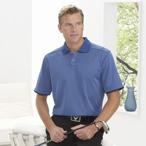 Custom Decorated Mens Callaway Corporate Gravity Stripe Polo Shirts