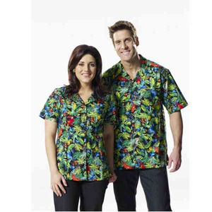 Custom Imprinted Mens Jungle Jewels Hawaiian Camp Shirts