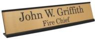 Custom Imprinted Metal Desk Name Plate Holders!
