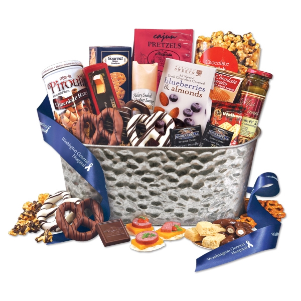 Non Perishable Package Cheese and Sausage Food Gifts -
