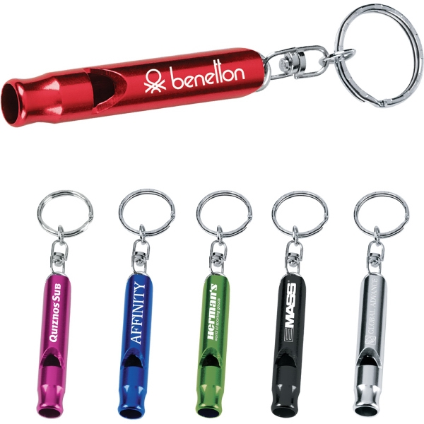Personalized 1 Day Service Emergency Metal Whistle Key Rings