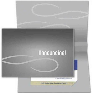 Custom Imprinted Metallic Sound Business Card Holders