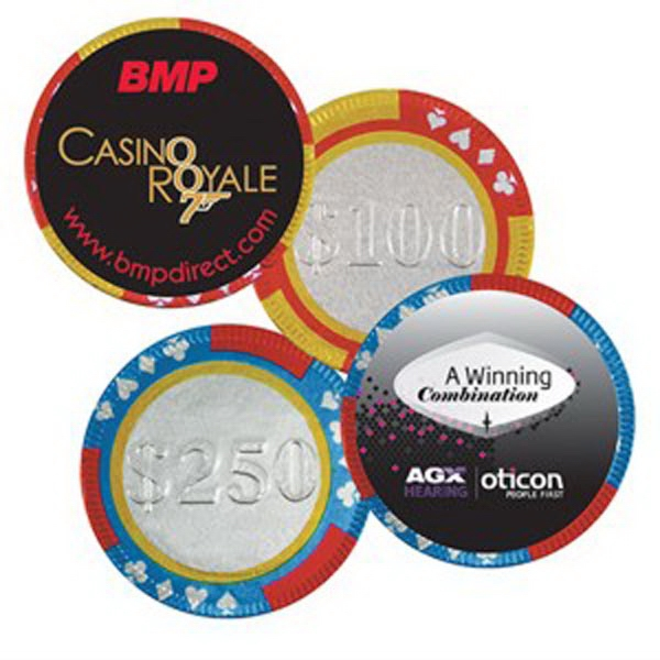 Las Vegas Themed Promotional Items - Casino Chip Shaped Chocolates