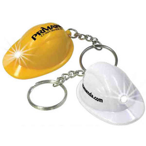 Custom Imprinted Mini Construction Hat Key Lights