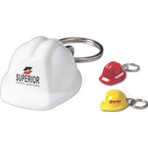 Construction Hats - Mini Construction Hat Keychains