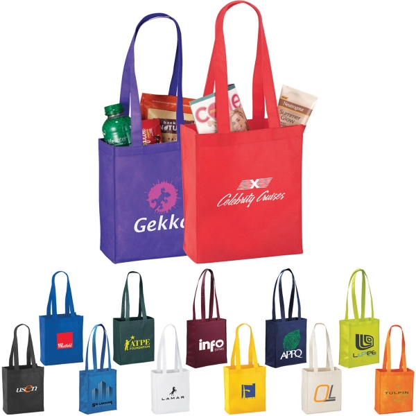 Custom Imprinted 1 Day Service Polypropylene Tote Bags