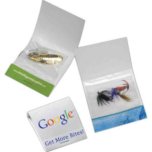 Custom Printed Mini Spoon Matchbook Fishing Lures!