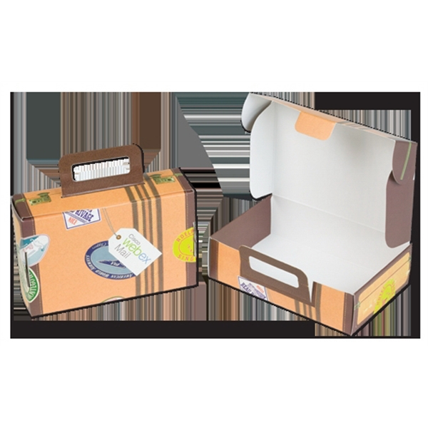 Custom Imprinted Cardboard Suitcase Boxes