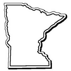 Custom Imprinted Minnesota Shaped Magnets