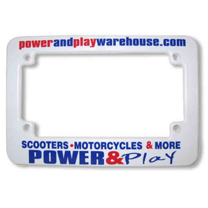 Motorcycle Themed Promotional Items - Motorcycle License Plate Frames