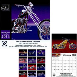 Motorcycle Themed Promotional Items - Motorcycle Mania Wall Calendars