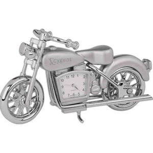 Custom Made Motorcycle Shaped Silver Metal Clocks