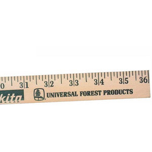 Custom Imprinted Natural Wooden Yardsticks!