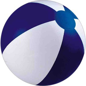 Custom Designed Navy Blue and White Alternating Color Beach Balls