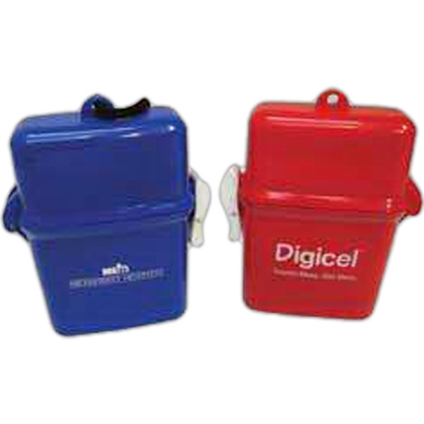 Personalized 3 Day Service Apple Shaped Waterproof Containers with Ponchos