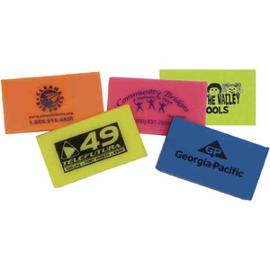 Custom Imprinted Neon Colored Erasers