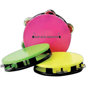 Custom Imprinted Neon Miniature Tambourines