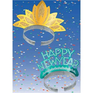Custom Imprinted New Years Holiday Tiaras