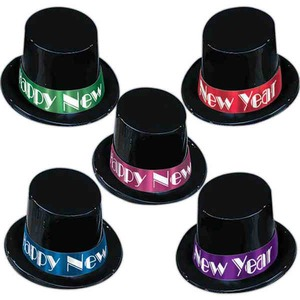 New Years Themed Promotional Items - New Years Holiday Top Hats