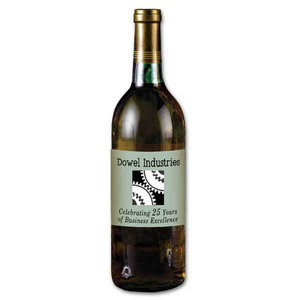 Custom Imprinted New Years Holiday Wine Bottles