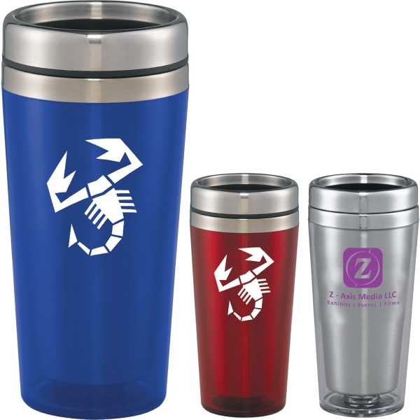 Custom Made 17oz. Foam Bottom Travel Mugs