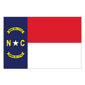 North Carolina State Shaped Promotional Items - North Carolina State Flags