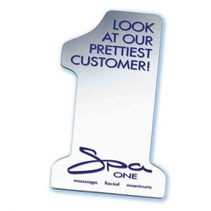 Custom Imprinted Number One Shaped Mirrors