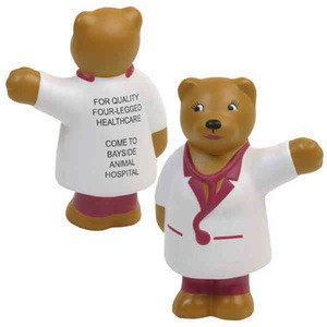 Custom Imprinted Nurse Bear Keychains