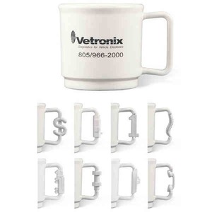 Shaped Handle Stackable Mugs - Nut and Bolt Handle Stackable Mugs