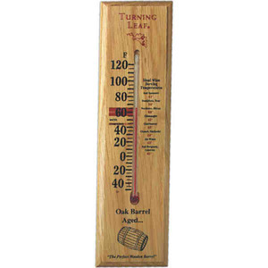 Custom Printed Oak Wood Thermometers