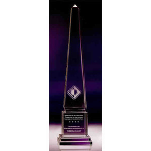 Custom Printed Obelisks Vertical Crystal Awards